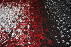 Red, Black and White Blooming 9-Patch Queen Sized Quilt - Free Shipping Till Christmas