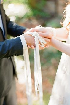 Hand-fasting is an ancient Celtic ritual that's easily adapted for a modern wedding. Your officiant can help fasten your hands together with ribbon or a cord while you exchange your vows.Related: Irish Wedding Traditions