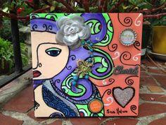 Sara Molano Magic Prayer box purse wood hanpainted by SaraMolano, $65.00