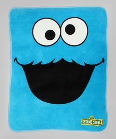 Cookies are no fun to cuddle with, but this plush Cookie Monster blanket certainly is. With its big googly eyes and luxuriously soft fabric, it'll have kids dreaming of chocolate chips in seconds flat.50'' x 60''100% polyesterMachine wash; tumble dryImported