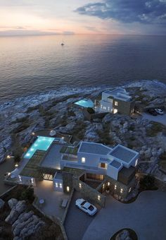 Villas in Mykonos, Greece.