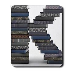 Letter K stack of books Mousepad...