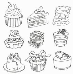ONLY-BAKERY-Bread-Food-Coloring-Book-For-Adult-Painting-ANTI-STRESS