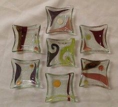 Fused Glass Bowl, Glass Panels, Sushi, Pattern, Inspiration, Glass Art, Kuchen, Stained Glass Art, Fused Glass Ornaments