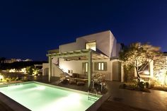 Villa Kalliopi Greece holiday home stunning Mediterranean view swimming pool