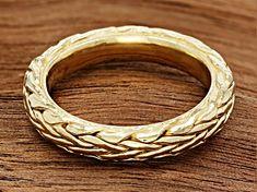 14K Yellow Gold Wheat Band Ring - OBP161   JTV.com