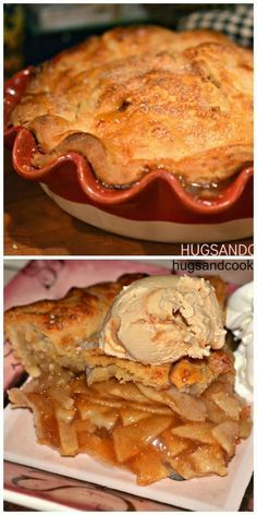 Apple Pie That is.TO DIE FOR! - Hugs and Cookies XOXO Slight variations on apple pie and the crust, but would still use some vodka in crust. Apple Pie Recipes, Apple Desserts, Köstliche Desserts, Delicious Desserts, Dessert Recipes, Apple Pies, Mini Apple, Apple Pie Recipe Easy, Best Apple Pie
