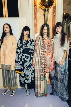 Behind-the-scenes at Acne Studios during Paris Fashion Week. Photographed by Driely S.