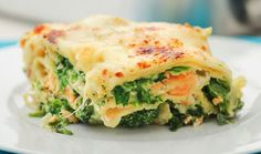 A take on a classic, this salmon, spinach and tomato lasagne is a perfect post-workout meal full of protein! Try it on Inside Track here. Pasta Recipes, Diet Recipes, Cooking Recipes, Healthy Recipes, Post Workout Food, Italian Recipes, Love Food, Food Porn, Sauteed Spinach