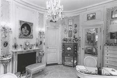 Historical view of Marjorie Post's dressing room.