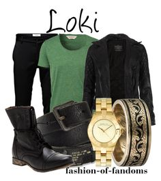 """""""Loki"""" by fofandoms ❤ liked on Polyvore featuring Jack & Jones, SELECTED, AllSaints, Diesel, Steve Madden, Alexis Bittar, Marc by Marc Jacobs, male, loki and avengers"""