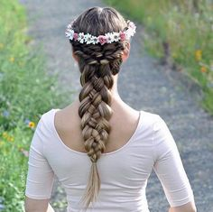 Five strand braid and flower crown #braidsbyjordan