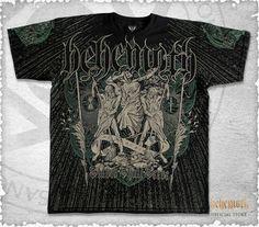All-over print Behemoth Slaves Shall Serve t-shirt