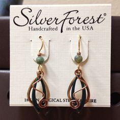 Silver Forest earrings These are a pair of Silver Forest earrings. 18k on surgical steel earwire. Silver Forest Jewelry Earrings
