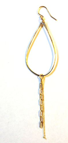 Large Teardrop Chain Earring www.zahavah.com