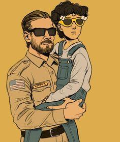 Jim Hopper & Eleven