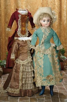 A Matter of Circumstance: 10 German Bisque Closed Mouth Doll by Kestner with Trousseau, Original Costumes