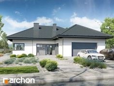 Dom w przebiśniegach 4 Gazebo, Pergola, Home Fashion, House Plans, Garage Doors, Bungalow, Outdoor Structures, House Design, How To Plan