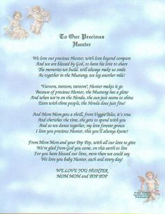 The poem is written so that the child will know how much he was loved by his grandparents even after they have left this world for the next.