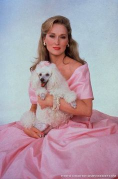 Meryl Streep with her poodle friend who is the star???