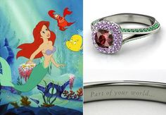The Little Mermaid themed engagement ring ~Disney Embedded image permalink