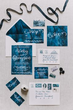 The Event Refinery teamed up with a group of creatives to bring us this nautical-inspired styled shoot in New Jersey with a blue monotone color palette.