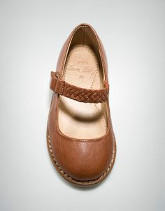 plaited leather ballerina - Shoes - Baby girl (3-36 months) - Kids - ZARA United States--Kensi way needs new brown flats...hers are scuffed and almost too small-- gotta buy