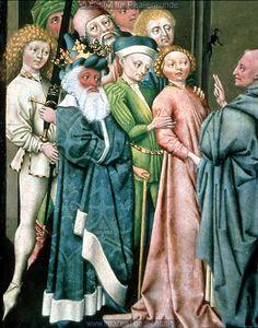 Exorzismus durch den Hl. Leonhard  Dieses Bild: 0005571452-1460 note direction off pleats in front.