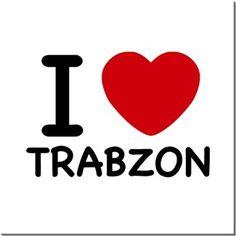 I Love Trabzon Kendin Tasarla - HDF Magnet 8x8cm