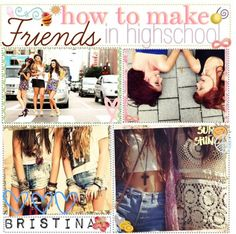 """How To Make Friends In Highschool!"" by the-tip-nerdss ❤ liked on Polyvore"