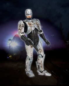 """Part man. Part machine. All cop… and now, all action figure! Robocop, the classic crime fighter from future Detroit, is back as a 7"""" scale figure in honor of the movie's 25th anniversary!"""
