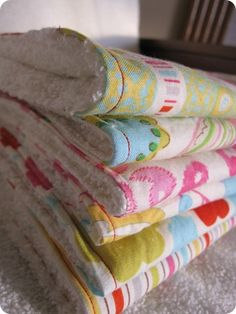 Sewing Project: Burp Cloths - Peck Life