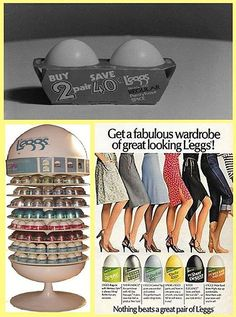 L'eggs Pantyhose -  One of the best-known packages in consumer-products history ~ Old Wellington Region 17 June 2015