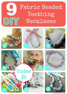 Teething Necklace For Mom, Teething Beads, Teething Jewelry, Nursing Necklace, Teething Toys, Fabric Beads, Fabric Scraps, Scrap Fabric, Toddler Jewelry