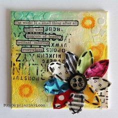 Fantastic artist: her blog provides tips and lists the tools needed for projects! //Ronda Palazzari Beauty Everywhere mini canvas 2