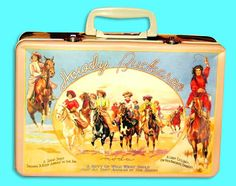Vintage cowgirl lunchbox