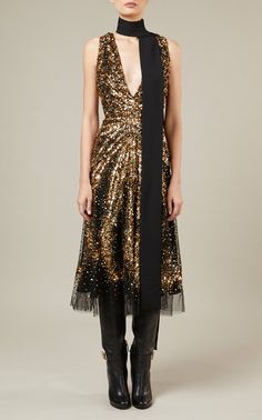 Bead-Embroidered Tulle Midi Dress by ELIE SAAB for Preorder on Moda Operandi