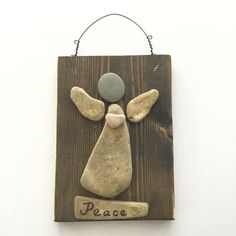 Peace Angel ~ Lake Michigan beach rocks ~ Cottage Decor