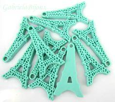1 Pandantiv Turnul Eiffel 40x21x4 mm de blanitza Breslo Hanukkah, Craft Supplies, Crochet Necklace, Crafts, Jewelry, Manualidades, Jewlery, Jewerly, Schmuck