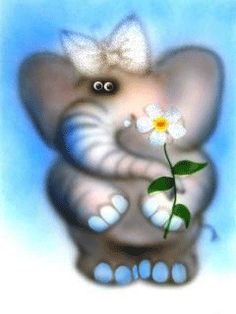 Download Animated 240x320 «happy elephant» Cell Phone Wallpaper. Category: Cartoons