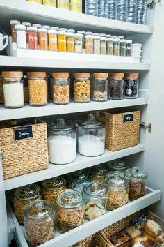 Cupboard organisation kitchen