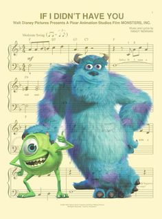 Monsters Inc. Art Print by AmourPrints on Etsy