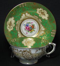 Crown Staffordshire Floral Gilt Tea Cup