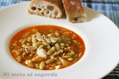Verdinas con bacalao. Receta asturiana from http://www.nimataniengorda.com/verdinas-con-bacalao-receta-asturiana/