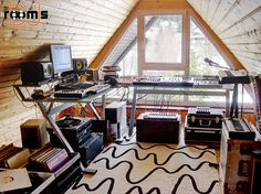Scott Robinson producing studio in the attic