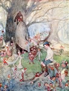 The Fairy Ring was thronged with dancing Elves - The Fairies and the Christmas Child by Lilian Gask, 1912 Troll, Fairy Ring, Fairy Queen, Vintage Fairies, Baby Fairy, Fantasy Illustration, Art Illustrations, Fairytale Art, Flower Fairies