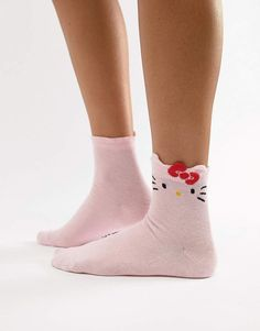 5f053eec9 Asos Design Hello Kitty x ASOS DESIGN socks with bow detail Little Kitty,  All About