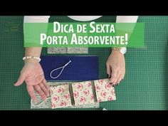 Dica de Sexta - Porta Absorventes DIY (Tutorial Patchwork) com Patricia Muller - YouTube Tutorial Patchwork, Diy Bags Patterns, Sewing Patterns, Lunch Bag Tutorials, E Craft, Sewing Alterations, Cross Stitch Letters, Art Bag, Sewing Class