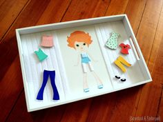 DIY Paper Doll Tray with customizable wooden clothing! {Sawdust and Embryos}