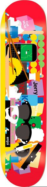 """""""Bless This Mess"""" skateboard deck illustrated by Craig & Karl for Enjoi. $59.95"""